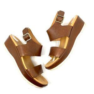 Kork-Ease Khloe Platform Wedge Sandal in Cognac